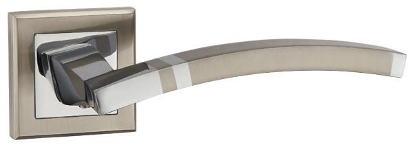Дверные ручки PUNTO NAVY QL SN/CP-3 матовый никель/хром, фото 1