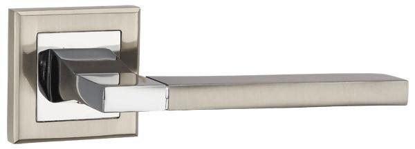 Дверные ручки PUNTO TECH QL SN/CP-3 матовый никель/хром, фото 1