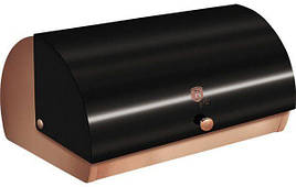 Хлебница 38,5x28x18,5 см из нержавеющей стали, крышка металлик