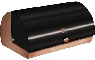 Хлебница 38,5x28x18,5 см из нержавеющей стали, крышка металлик, фото 2