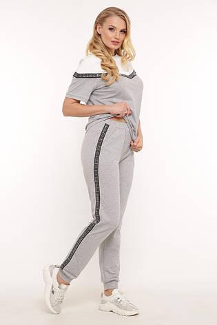 Универсальный костюм светло-серый для полных, фото 2