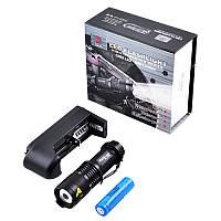 Вело фара Police XPE-Q5 ZOOM, аккумулятор 14500, крепление, зарядка