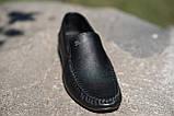 Мокасины мужские кожаные черные, фото 2