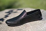 Мокасины мужские кожаные черные, фото 3