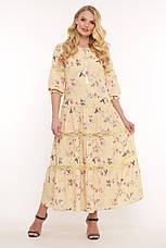 Жовте ніжне плаття для повних на літо Ганна, фото 2