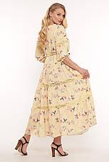 Желтое нежное платье для полных на лето Анна, фото 2