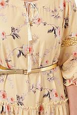 Желтое нежное платье для полных на лето Анна, фото 3