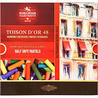Пастель сухая TOISON D'OR, подарочный набор из 48 цветов