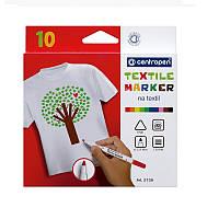 """Набор маркеров для ткани Centropen """"Textile"""" 2739, след 1.8 мм, набор из 6 цветов"""