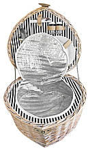 Кошик для пікніка на 2 персони з термо-сумкою