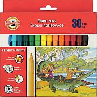 Фломастеры Koh-i-Noor 7710CB, набор из 30 цветов, картонная упаковка