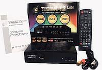Приставка - Ресивер цифровой эфирный DVB-T2 тюнер (DVB-C/T2, АС3, Youtube, IPT Tiger T2 IPTV LAN