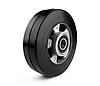 Колесо з еластичної гуми, діаметр 160 мм, без кронштейна з підшипниками