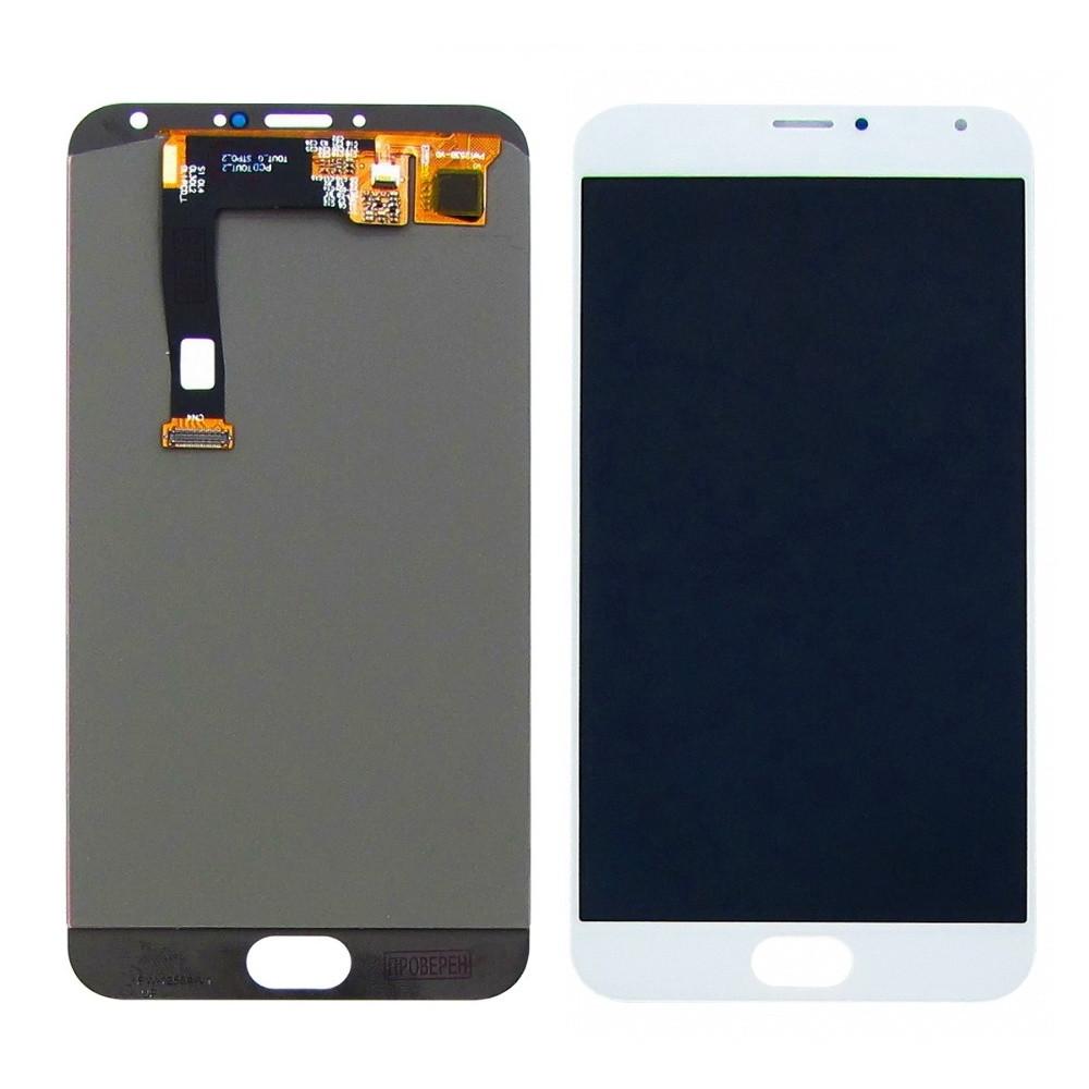 Дисплей для Meizu MX5 M575/ MX5e/ MX5e Lite с сенсором Белый (DH0740)