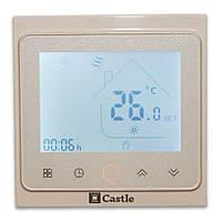 Терморегулятор программируемый Castle с функцией Wi-Fi серия TWE02 (Белый)