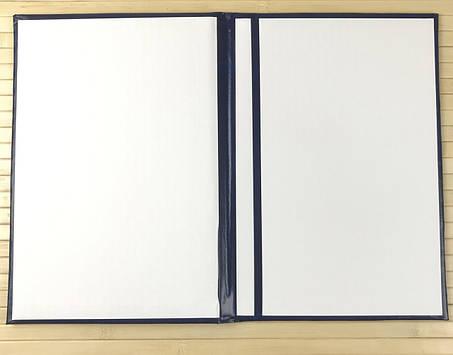 """Папка адресна А4+ з золотим тисненням """"З Ювілеєм"""", синя, балакрон, Скат, фото 2"""