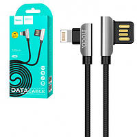 USB Кабель Hoco U42 Exquisite steel lightning 1.2м, фото 1