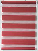 Готовые рулонные шторы Ткань ВМ-1216 Красный 500*1300