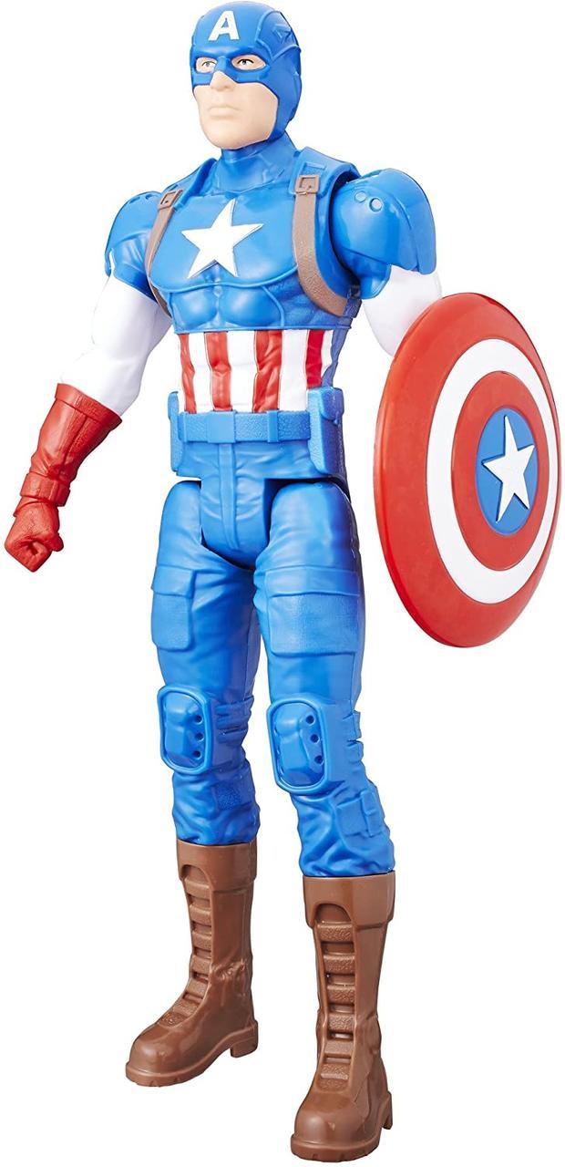 Игрушка-фигурка Hasbro, Капитан Америка, Марвел, 30 см - Captain America, Marvel, Titan Hero Series