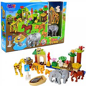 Конструктор «Веселый Зоопарк», 51 дет, животные, свет, звук (3601)