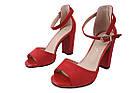 Босоніжки жіночі Liici еко-замша, колір червоний, розмір 35-40, фото 5