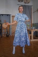 Летнее платье платье рубашка миди