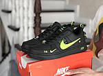 Женские кроссовки Nike Air Force (черно-салатовые) 9099, фото 2