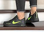 Жіночі кросівки Nike Air Force (чорно-салатові) 9099, фото 4