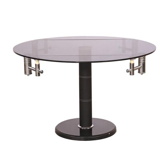 Стол обеденный раскладной B 168-9 хром черный.