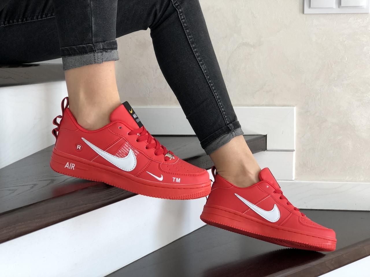 Жіночі кросівки Nike Air Force (червоні) 9100