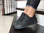 Женские кроссовки Nike Air Force (черные) 9101, фото 4