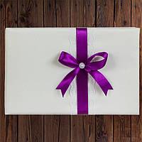 Книга пожеланий 24х16 см, 72 страницы, фиолетовый цвет (арт. 0796-29), фото 1