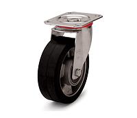 Колесо з еластичної гуми, діаметр 125 мм, з поворотним стандартним кронштейном