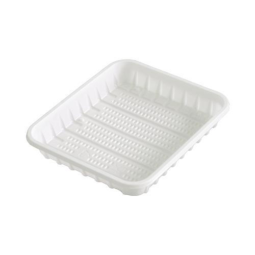 Пластикова тарілка прямокутна 130х150мм - 100 шт.