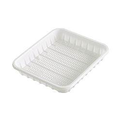 Тарелка пластиковая прямоугольная - 130х150 мм, 100 шт.