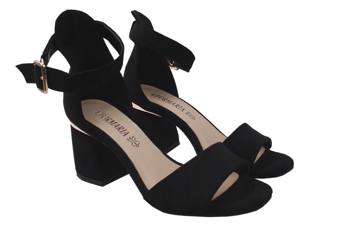 Босоніжки Alformaria еко-замш, колір чорний, розмір 36-40