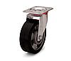 Колесо из эластичной резины, диаметр 250 мм, с поворотным стандартным кронштейном