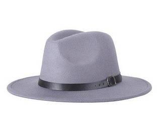 Женская фетровая шляпа федора с ремешком