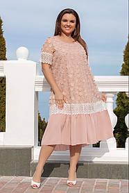 Летнее женское платье  размер 50-52,54-56!