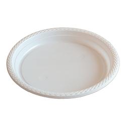Тарелка пластиковая круглая - 100 шт, D205