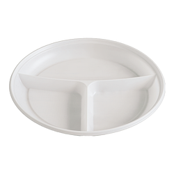 Тарелка пластиковая секционная на 3 секции - 100шт, D205