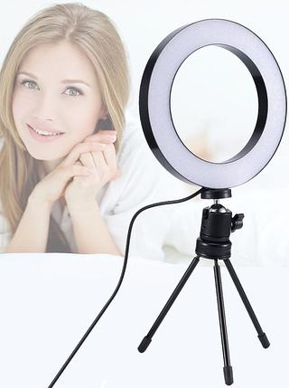 Кольцевая лампа для блогеров (16 см. диаметр кольца) без штатива, фото 2