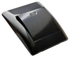 Розетки та вимикачi OSCAR чорний глянець