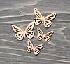 Метелики -оранж дерев. *4 шт