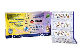 Пластир бактерицидний Дитячий (на поліетиленовій основі з малюнками) 100шт