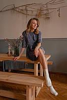 Платье женское пудра, джинс, графит, 42-44, 46-48