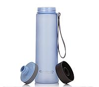 Бутылка спортивная фляга чашка для воды питья эко пластик с фильтром Casno 1 литр Голубой