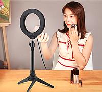 Кольцевая лампа для блогеров (12 см. диаметр кольца) без штатива
