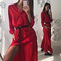Стильное женское длинное платье