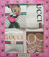 Gucci, набор для новорожденной, 5 предметов